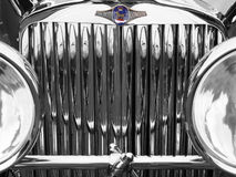 Old motorcar with chrome grille Royalty Free Stock Images