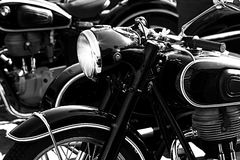 Old motorcycle. Detail of the old motorcycle, motor industry Stock Photography