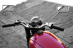 Old motorcycle. Detail of the old motorcycle, motor industry Stock Photo