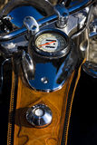 Old motorcycle. Detail of the old motorcycle, motor industry Royalty Free Stock Images