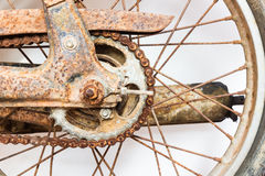 Old motorcycle. Old the motorcycle chain rust Royalty Free Stock Photography