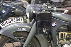 Old motorcycle BMW closeup Stock Photography