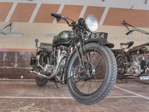 Old motorcycle BSA W35-7 (1935) Stock Photography