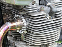 Old motorcycle engine close up Stock Images