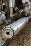 Old motorcycle exhaust Stock Photos