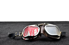 Old Motorcycle glasses royalty free stock photography