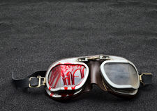 Old Motorcycle glasses Royalty Free Stock Image