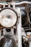 Old motorcycle lamp royalty free stock photo