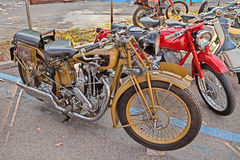 Old motorcycle Motosacoche 500 cc (1930) Royalty Free Stock Images