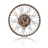 Old motorcycle rim isolated Royalty Free Stock Photo