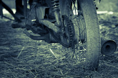 Old motorcycle with rusty components Royalty Free Stock Images