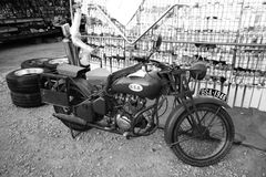 Old motorcycle Stock Photos