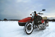 Old motorcycle with sidecar Royalty Free Stock Photos