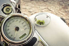 Old motorcycle speedometer Royalty Free Stock Photography
