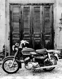The old motorcycle stock photo