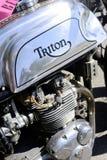 An old motorcycle triumph triton Stock Photos