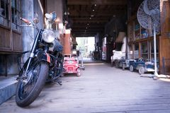Old motorcycle in vintage style. An old motorcycle in vintage style Royalty Free Stock Photography