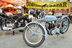 Old motorcycles. In the automotive exhibition OLDTIMERBAZAR Stock Image