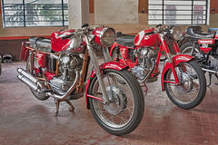 Old motorcycles Ducati Stock Photography