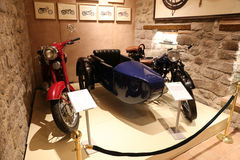 Old Motorcycles in Koc Museum Stock Images