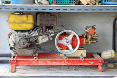 Old motors of electric generators or water-pumps Royalty Free Stock Photos