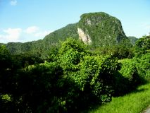 Old Mountain. A photo of one of the old mountains called Mogotes, at Viñales Valley, Cuba Stock Photos