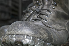 Old mountain boots Royalty Free Stock Photography