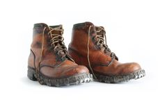 Mountain boots. Royalty Free Stock Images