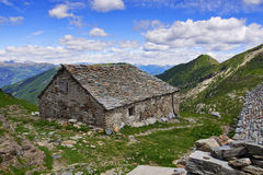 Old mountain cabin in the Italian Alps Royalty Free Stock Photography