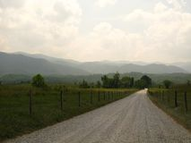 An old mountain country road Stock Photo