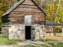 An old mountain farm apple barn Stock Image