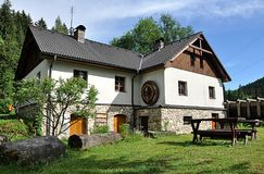 Old mountain and farm building Stock Photos