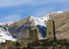 Old mountain fortress. Old mountain stone  fortress North Ossetia Stock Images