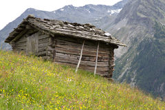 Old mountain hut in South Tyrol, Italy Royalty Free Stock Photos