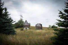 Old mountain shacks. Stock Photos