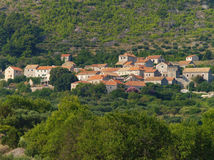 Old mountain village. Landscape with old mountain croatian village Royalty Free Stock Photography