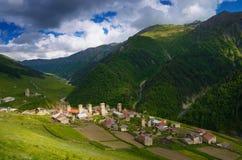 Old mountain village Adishi Royalty Free Stock Images
