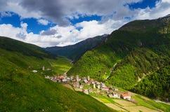 Old mountain village Stock Photos