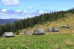 Old Mountain Village In Transylvania Stock Photo