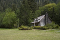 Old Mountainside Log Cabin Royalty Free Stock Photo