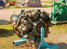An old, mounted engine from an aircraft Stock Images