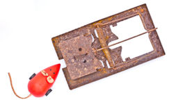 Old Mousetrap. Royalty Free Stock Image