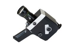 Old movie camera 8 mm Stock Photo