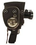 Old movie camera. With lens close up Royalty Free Stock Photography