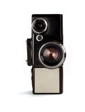Old movie Camera - Front view Stock Images