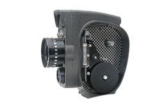 Old movie camera with lens close up Stock Photos