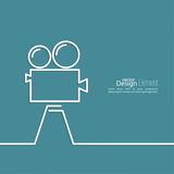 Old movie camera Royalty Free Stock Photos