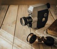 Old movie camera. retro style royalty free stock photos