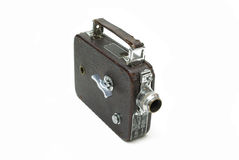 Old movie camera. For shooting films on a film Royalty Free Stock Photos