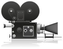 Old movie camera vector illustration Royalty Free Stock Photos